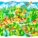 0717_ ルレオのガンメルスタードの教 会街_ スウェーデン王国_ Church Town of Gammelstad, Luleå_ Sweden | 1996年登録の世界遺産の絵 | 松田光一