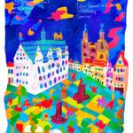 0712_ アイスレーベンとヴィッテンベル クのルター記念建造物群_ ドイツ連邦共 和国_ Luther Memorials in Eisleben and Wittenberg_ Germany | 1996年登録の世界遺産の絵 | 松田光一