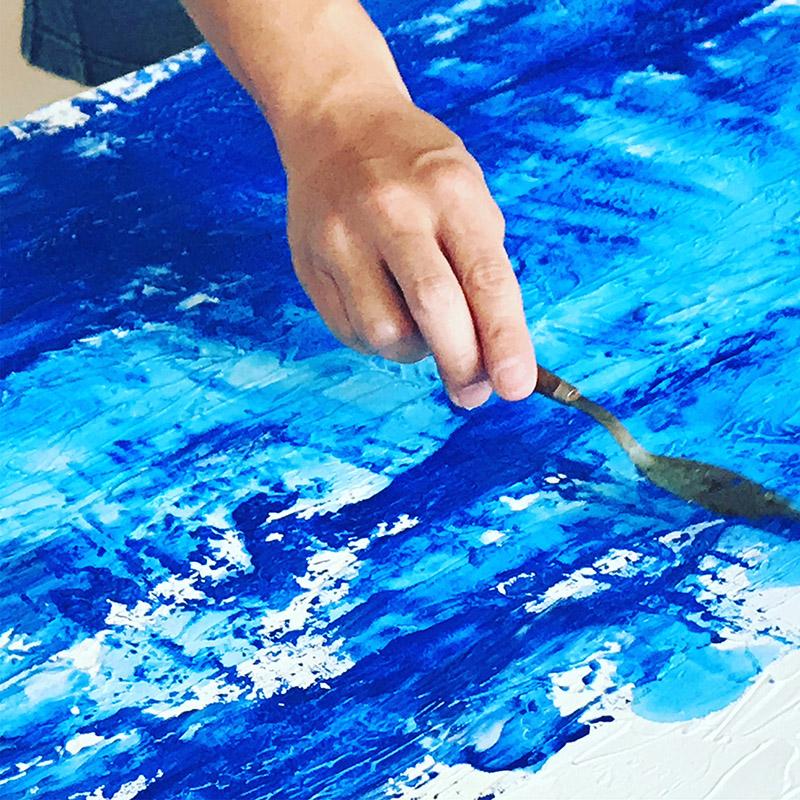アクリル絵の具で大きめの作品を創る 松田光一の世界遺産アート