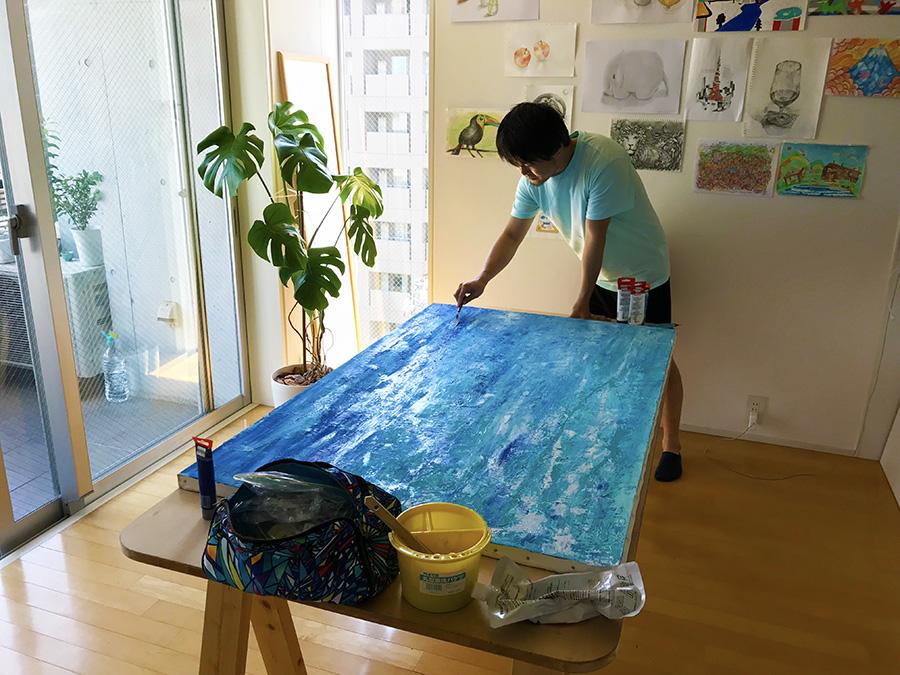 アクリル画制作 松田光一の世界遺産アート