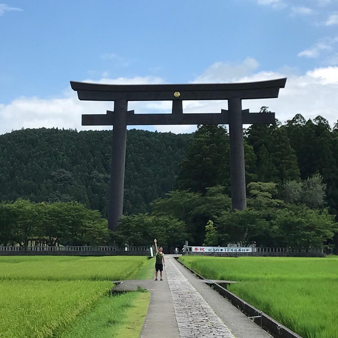 熊野本宮 大斎原 とても大きいですね   世界遺産の旅