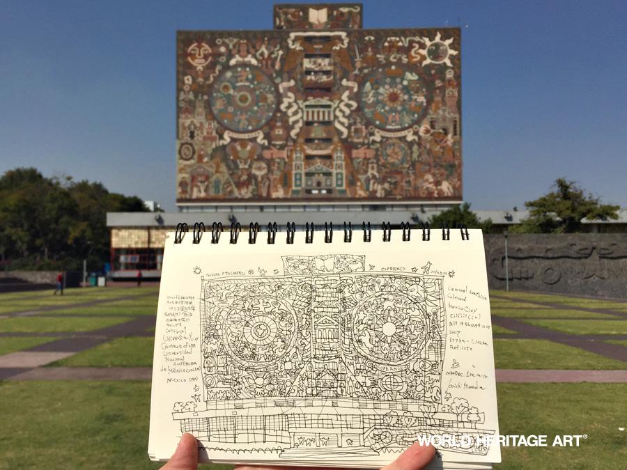 メキシコ国立大学 世界遺産の旅
